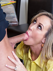 Brandi Love has hot sex with guy in her house because she is a hot and horny MILF.