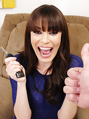 Hot Dana DeArmond gets a new car from her husband and she sucks him and fucks him for the gift.