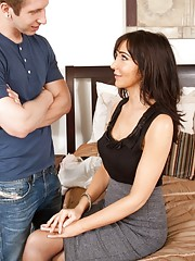 Sexy brunette Diana Prince loves to seduce her friends husband