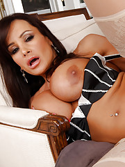 Lisa Ann sucks dick and gets fucked hard