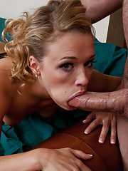 Hot girl has rough sex with her boyfriends son because he has a bigger cock.