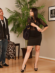 Gorgeous asian Katsuni decides she has had enough with her boyfriend so she fucks his son who has a bigger cock anyways.