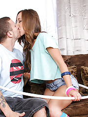 Remy LaCroix has her hula hoop ready and is set to go hit up the rave with her boyfriend. He ditched her to go to work though. She decides to ask her boyfriend's son if he wants to take her, but raves aren't really his thing either, but fucking