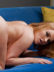 Busty red head rides cock like its a bull.