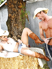 Christy Mack is a horny country girl who seduces guy to fuck her on the hail.