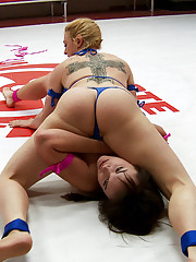 Darling is back.....as in Back Breaking... Back Breaking Holds on a Pain Slut Rookie by Big Tittied Vet