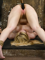 Two Beautiful Blonde Babes tied tight, made to cum while gagged, fucked with dildos, vibrated and erotically tormented