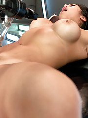 Seven Machines, tit suction cups, pussy pounding that makes US cry & she still wants more. Today we