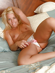Cock starved Anilos babe pleasures her needy milf pussy with a toy