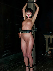 Hot French girl is bound, tortured and made to cum, brutally