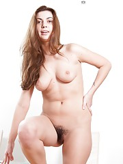 Edica in heels and her hairy pussy