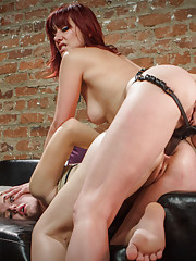 Massage therapist gets punished and strap-on ass fucked by sadistic lesbian for giving happy endings.