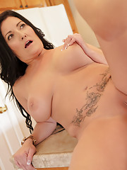 Hot milf lets her giant tits bounce as she gets pounded by a hard dick