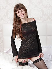 Willow wears her black dress and stockings