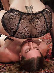 Chronic pervert masturbator is put in chastity & teased & denied by sexy dominatrix until his cock is thobbing and dripping through his chastity belt