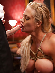 MILFs Veronica Avluv and Holly Heart in hot threesome anal action. Kinky Brunch sex party full of horny house guests get