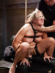 Big Tit Blonde Angel Allwood bounces her Big Ass for slave training exercises. Cock sucking dick riding slut get trained to submit to sadistic master.