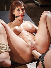 MILF reference librarian, Syren De Mer is punished and anal fucked into lesbian submission!