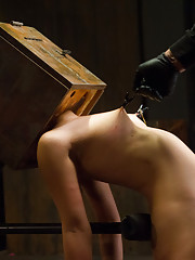Hot young slut is fucked and fucked up with nipple torment, electrical agony, hot wax, deprivation, and brutal impact.