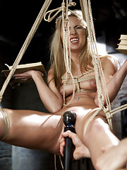 College Slut trained to suck cock, reverse cowgirl, obedience training, predicament rope suspension