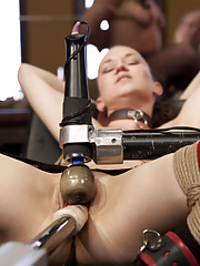 Voluptuous Belle Noir and Pain Slut Bonnie Day threesome sex, hard fucking machine orgasms, two babes one giant dick, best live sex show on the web!