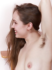 Gretta takes a break from work in this hairy porn