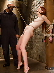 Perky fresh tits, pretty redhead get tied, gagged, tormented and orgasmed till she begs for mercy