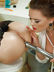 Sexy Maid Assed fucked and punished by hot Mistress