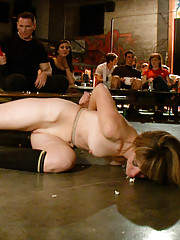 Dom turned sub- Mona Wales is fucked and Humiliated in front of a revolted theater audience.