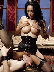 Isis Love and Emma Haize share One Hard Dick, slave endurance cock sucking lessons, pussy to mouth, hard cowgirl fucking, ass bouncing fuck