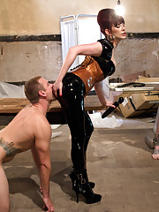 Watch Maitresse Madeline savagely humiliate Alex, John, and Ruckus. Each give up their unworthy prostates for a milking extravaganza!