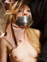 Hot Blonde taken in fantasy role play scenario tied up ass hooked, fucked with dildo, tight crotch rope