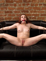18 year old freshman gets strap on ass fucked and punished by her professor for the very first time!