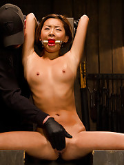 Asian Newcomer gets her first taste of bondage