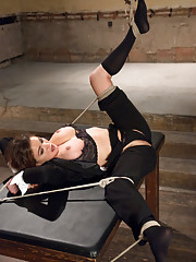 Sexy agent captured and ass fucked in bondage!