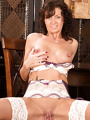 Naughty housewife bears all in her Anilos masturbation debut