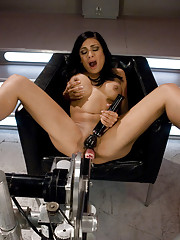 Toned, sexy, big tits and a hungry pussy & ass  - Beretta James shows the machines a good time as she fucks her way to super nova cum space.