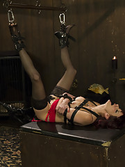 Maitresse Madeline is taken down, punished and anally pounded by Nina Harley!