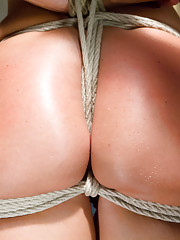 MILF India Summer in tight rope bondage, squirting orgasms, brutal suspension