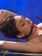 Lily Lebeau suffers beautifully at the hands of a gorgeous evil mistress taking tight bondage and a cruel anal fucking until she can
