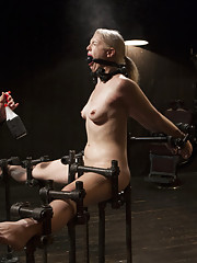 Hot blonde gets a taste of real pain and suffering.