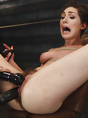 We bring Lily LaBeau out to the brink with forceful orgasms and stress bondage.