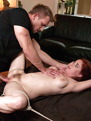 Step Sister ass fucked and make into bondage sex slave in kinky role-play fantasy.