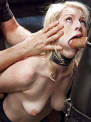 Newbie anal slut Ella Nova fucked in the ass with giant gimp cock. Includes nipple clamps, cattle prod torture, stress positions, reverse cowgirl fuck