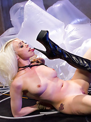 The kinky adventures of Barbarella continues with Lorelei Lee & Maitresse Madeline dominating each other with strap-ons, whips, bondage & humiliation.