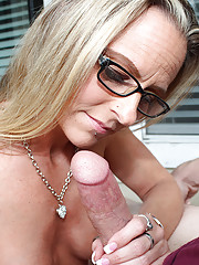 """Milf hottie Chrissy suprise her step son with sensual slow handjob"