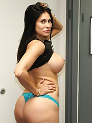 Milf Shiela Marie jerks off her step son
