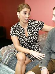 Joey is having a big problem. His ball sack has grown to mammoth proportions so step mom Stacie milks him