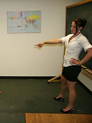 Mrs. Cheyenne Jewel decides to punish him by embarrassing him in front of everyone by wacking him off