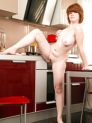 Stella cooking food naked